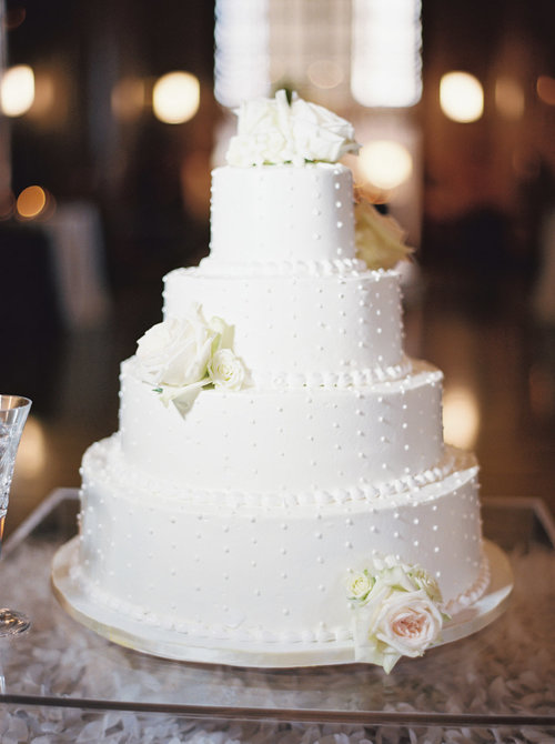 The wedding cake at the Gilbert wedding at the Frist Center for the Visual Arts in downtown Nashville, TN. Wedding planning & design by Big Events Wedding.