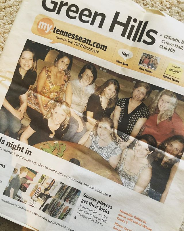 Extra Extra!! I'm cleaning some drawers and came upon this treasure!! Originally WGN (Wed Girls Night), we got together weekly for over a decade. Marriages and babies and lots of big life changes...we walked through all of it together. I cherish those memories!!