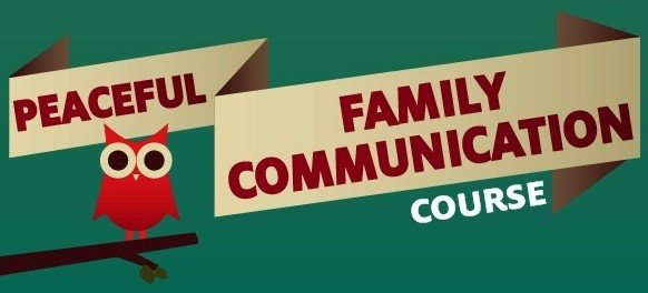 Peaceful family Communication Course banner