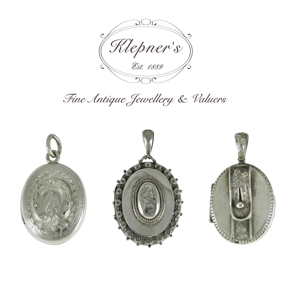 Antique Victorian Silver Lockets.JPG