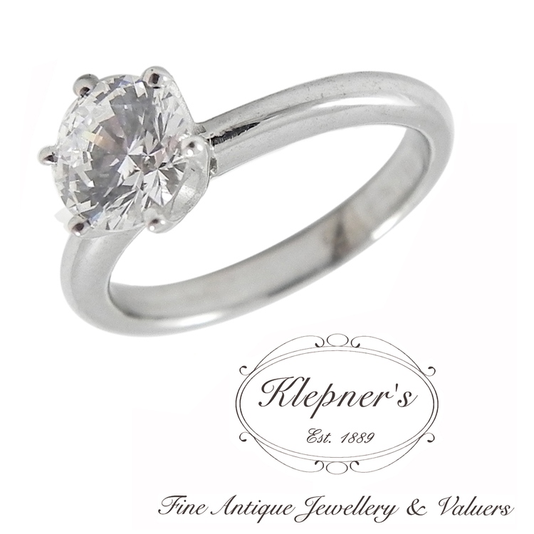 Classic Tiffany Style Engagement Ring Klepner S Fine Antique