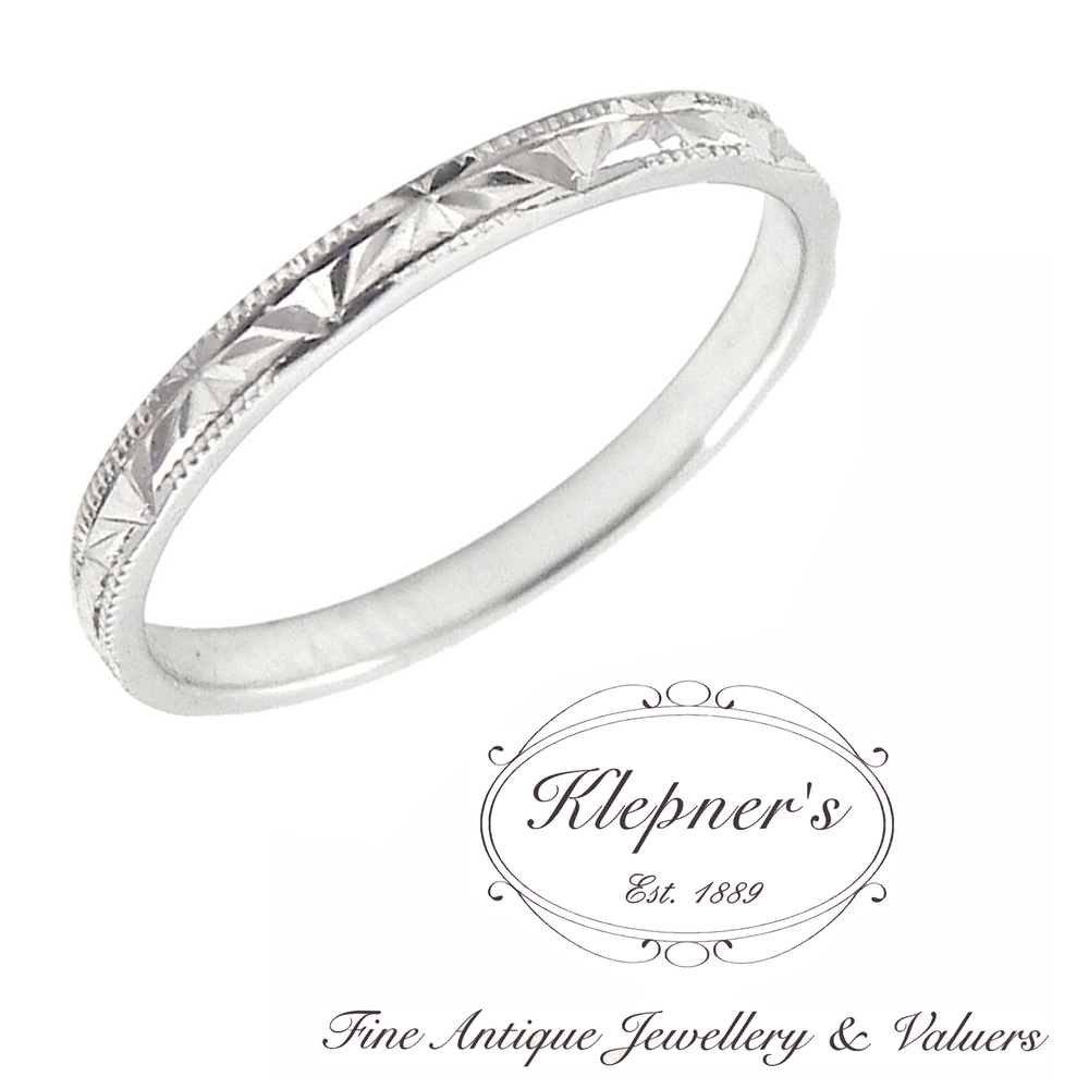 Vintage Inspired Flash Cut Wedding Band Klepner's Fine Antique Jewellery Valuers Engagement Rings: The Flash Inspired Wedding Ring At Websimilar.org
