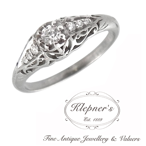 filigree engagement filligree listing vintage rings ring il moissanite zoom fullxfull forever one halo