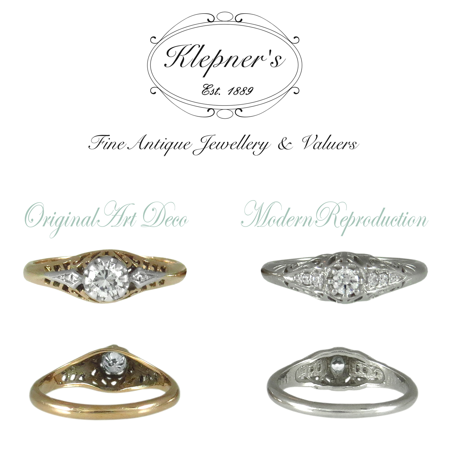 28e0cf2f1 REAL ANTIQUE RING OR REPRODUCTION; THE TOP 5 PRO TIPS TO HELP YOU TELL THE  DIFFERENCE — Klepner's Fine Antique Jewellery & Valuers- Antique Engagement  Rings