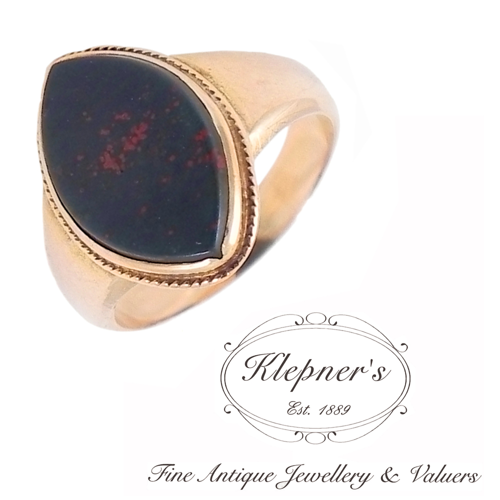 Antique Bloodstone Ring