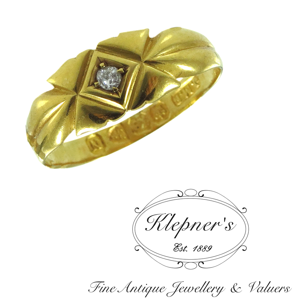 Home vintage jewellery vintage rings vintage ruby and - Antique Late Victorian Diamond Ring Klepner S Fine