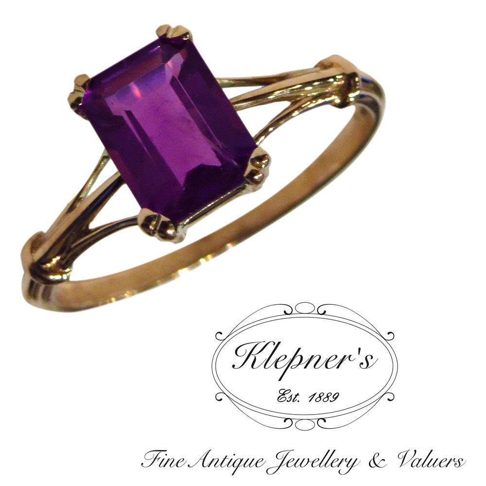Klepners had the pleasure using our clients amethyst and created a classic ring.