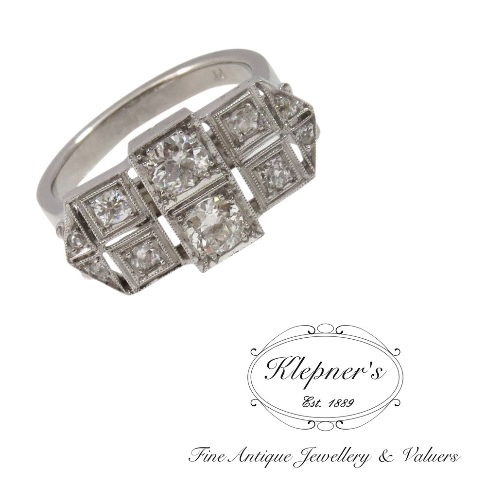 Klepners converted our clients Art Deco brooch to this ring