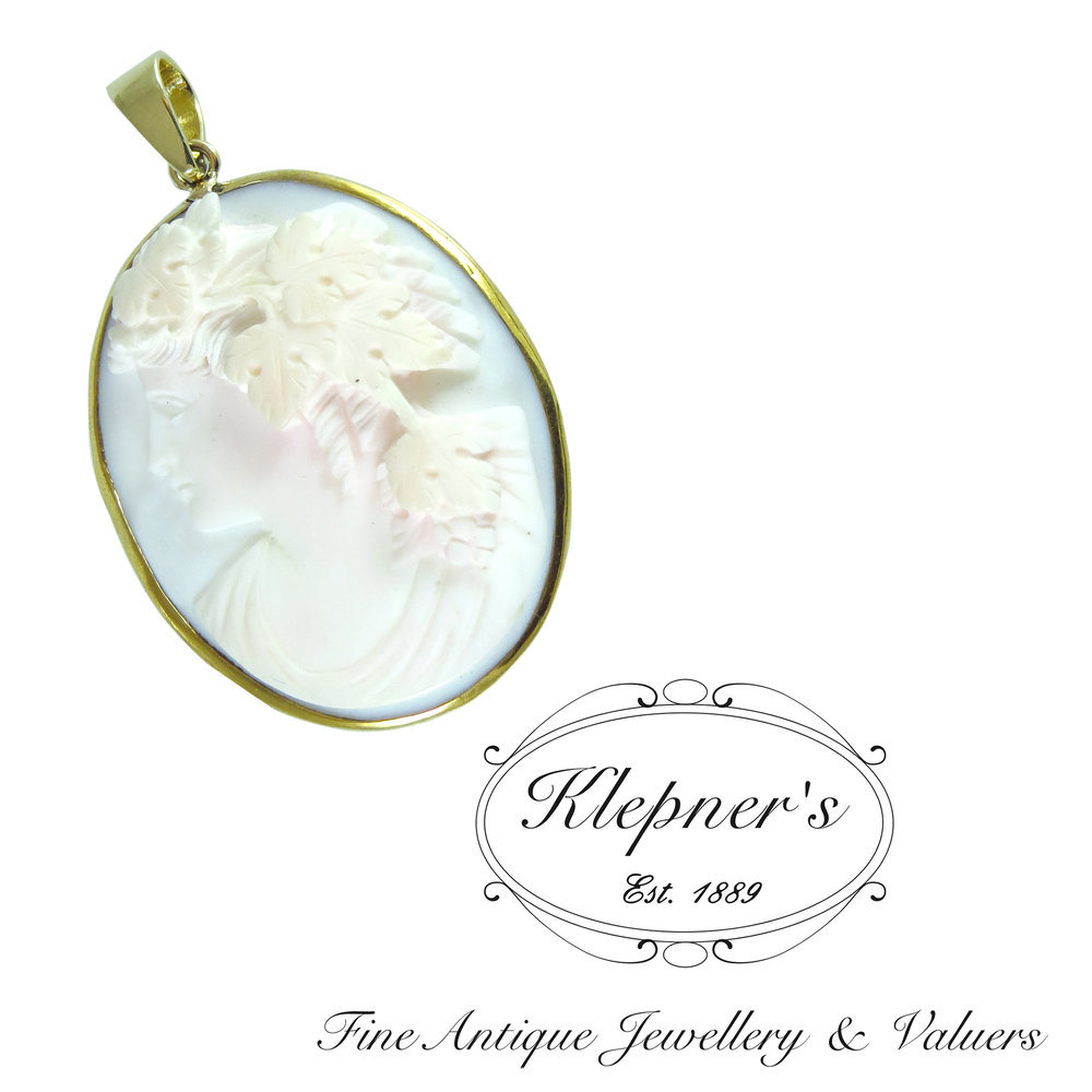 Cameo brooch converted to a pendant.