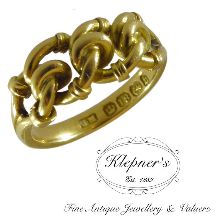 18ct Yellow Gold Kot Ring Hallmarked 1876 Klepners Fine Antique