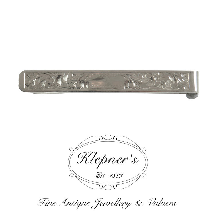 caf27f8aca1e Sterling Silver Art Deco Tie Bar — Klepner's Fine Antique Jewellery ...
