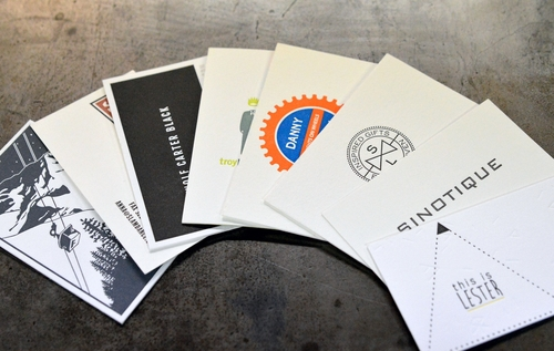 business card sample pack the laughing owl press co custom