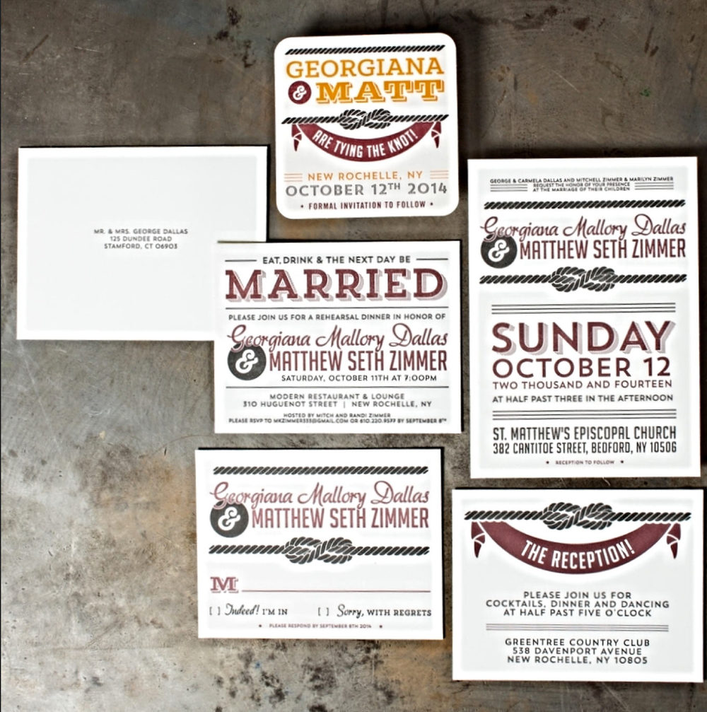 quirky letterpress wedding invitation design ideas