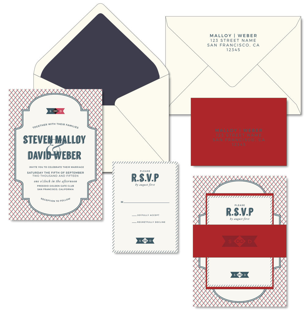 Gay Wedding Invitations - Letterpress