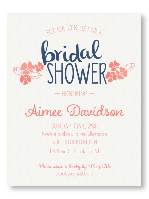 Bridal shower invitations the laughing owl press co custom flower showerbrbridal shower invitation filmwisefo