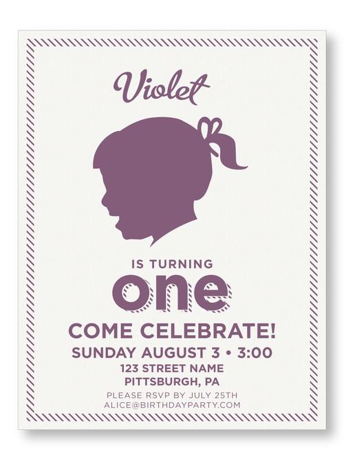 Birthday invitations the laughing owl press co custom striped borderbrgirl birthday invitation filmwisefo