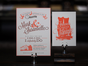 Custom Letterpress Wedding Invitations The Laughing Owl Press Co