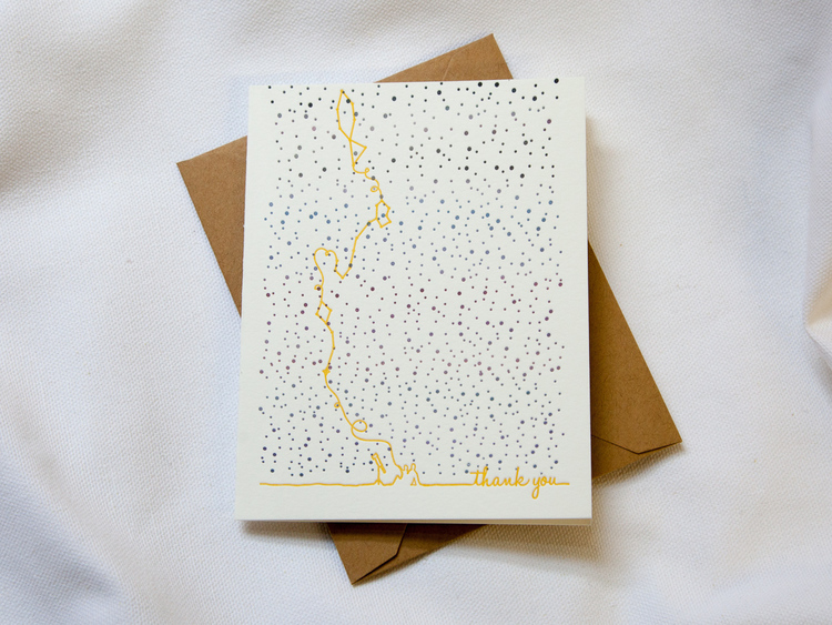 thank you card - Letterpress Greeting Cards