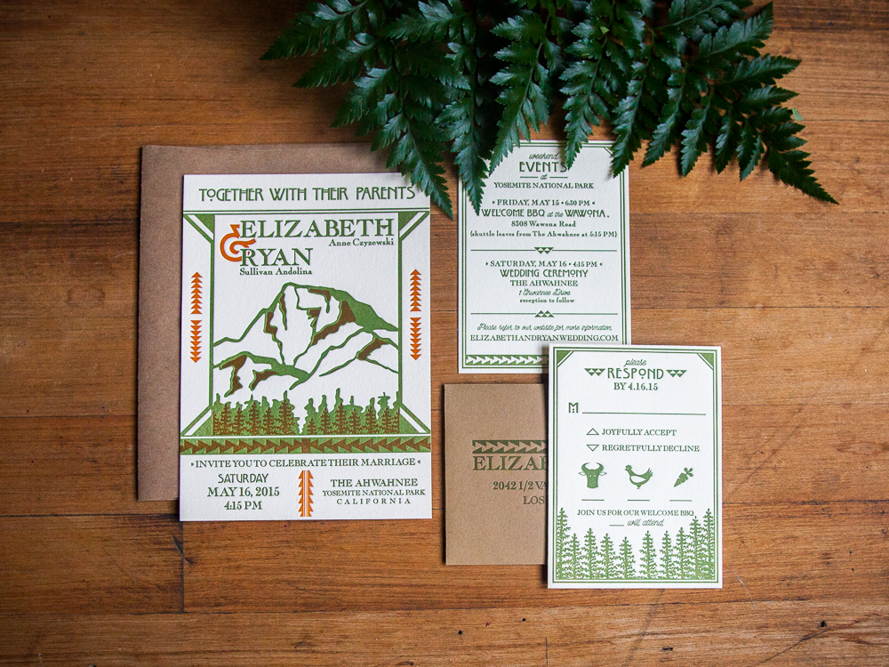 Customer:  Elizabeth  Artwork by:  The Laughing Owl Press Co.  Paper Stock:  220lb Lettra Ecru  Process:  2C Letterpress /0c  Press:  Vandercook 219OS