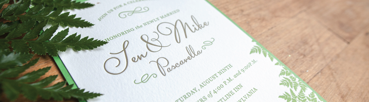 Custom Letterpress Wedding Invitations — The Laughing Owl Press Co ...