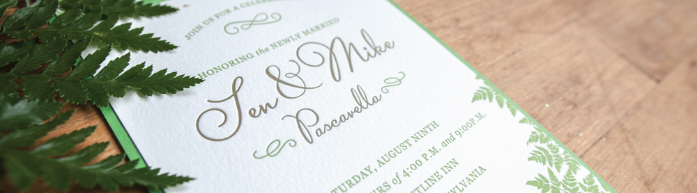 Custom Letterpress Wedding Invitations The Laughing Owl Press Co