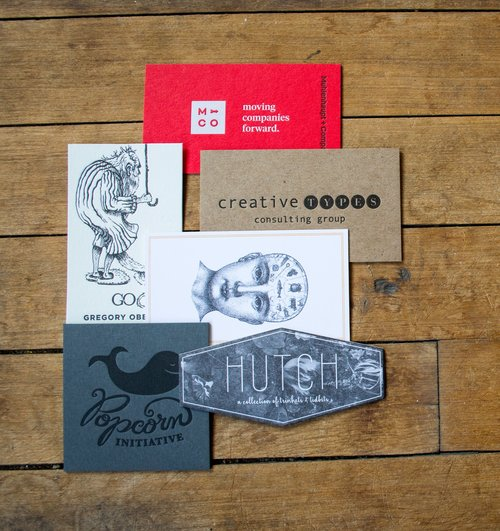 Custom Letterpress Business Cards The Laughing Owl Press Co