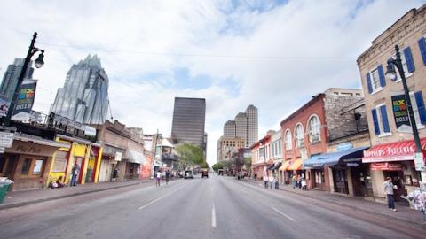 Austin Streets during SXSW Film. Photo credit: Tim Strauss