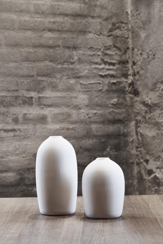 Raw Vase White | hvid keramikvase | MALLING LIVING