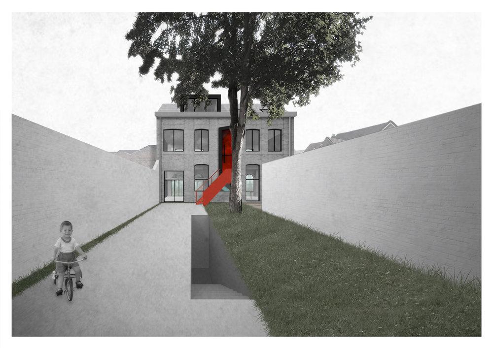 Maison rue Geefs à Schaerbeek
