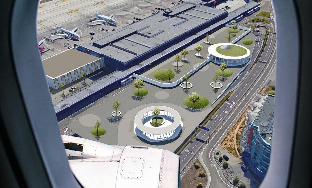 Aéroport infrastructure à Gosselies