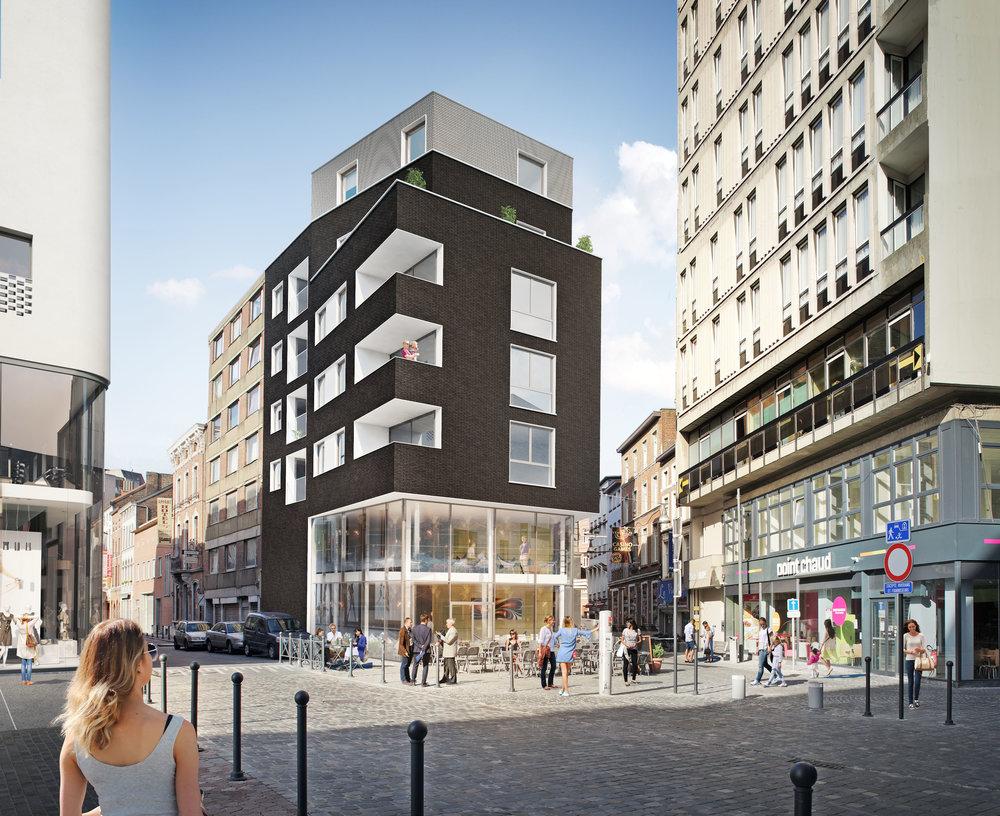 Commerces et logements rue Regniers