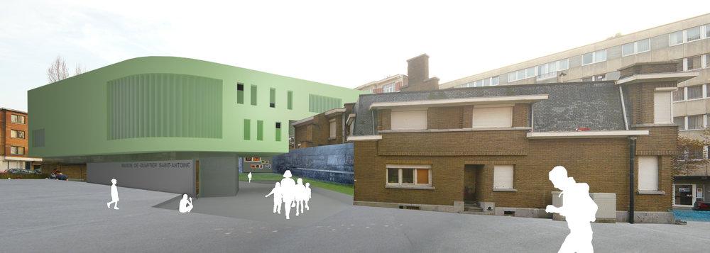 110328 Maison de Quartier et Logements à Forest
