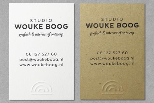 STUDIO WOUKE BOOG  HUISSTIJL / WEBSITE