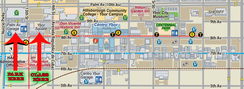 Ybor City Map Map to Tampa Photography Classes in Ybor City — Chip Weiner  Ybor City Map