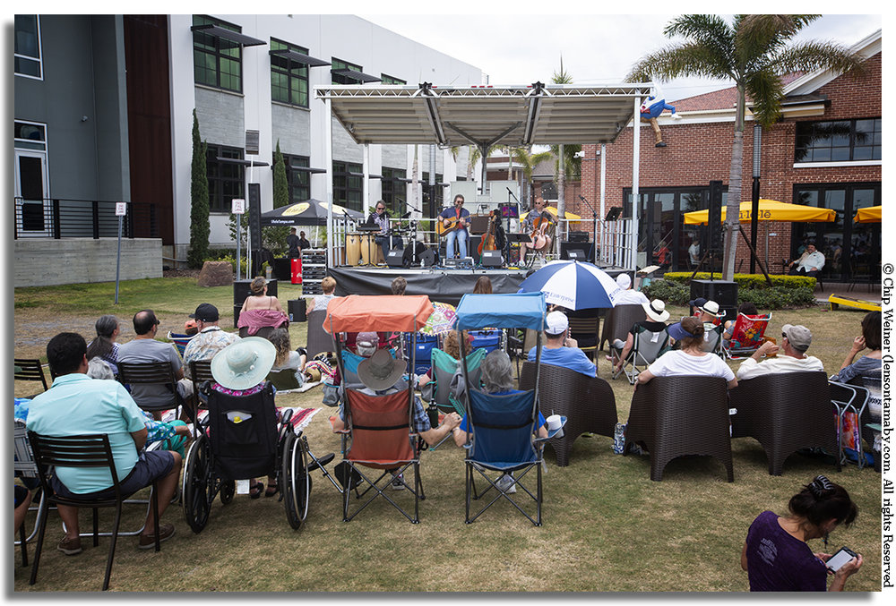 Ulele hosted the Stewart Tussing Band on their Sunset Lawn. The act is a throwback to the 70s and 80s in Tampa when the group performed in many venues in the bay area. They now reside in Nashville. The show was briefly interrupted by rain shower, but resumed thereafter.