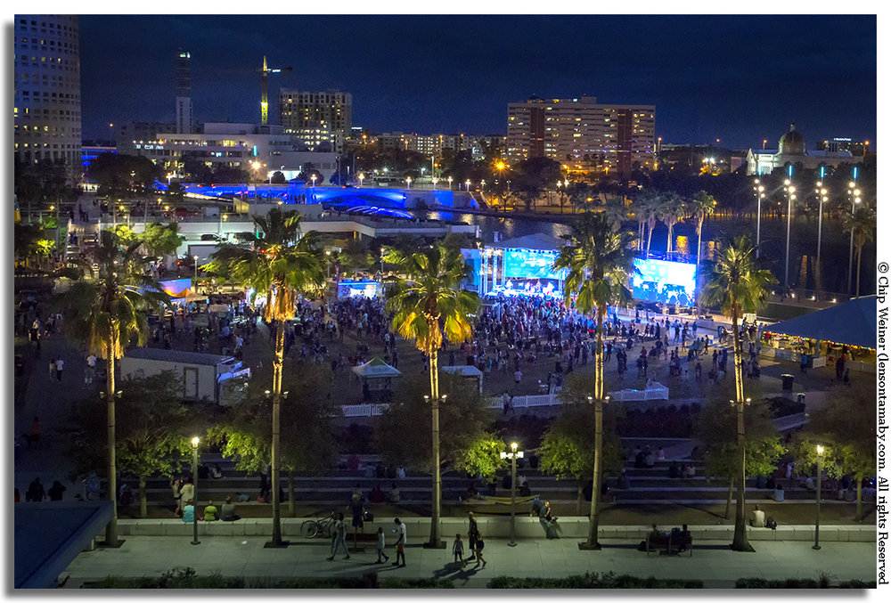 Curtis Hixon Park was aglow from The Spazmatics, who wrapped up a daylong music feast at Curtis Hixon Park.
