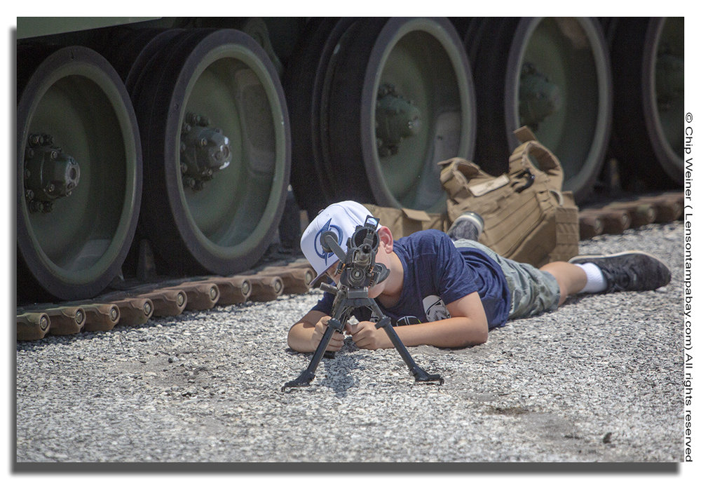 Young and old alike can see what it is like to handle a military grade weapon