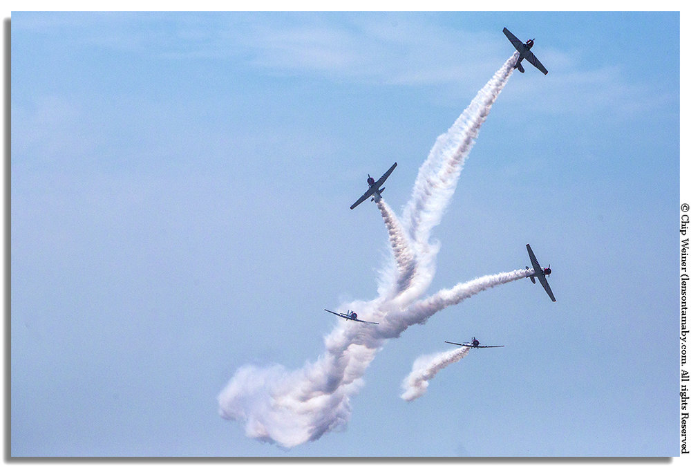 The Geico Skytypers use computer programs to write complex messenges in the sky. They ain't your grandma's cropduster...