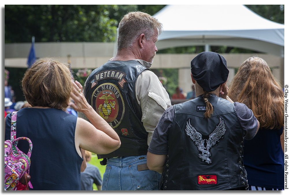 Hundreds of people attended including motorcycle clubs, veteran organizations, and families of fallen soldiers