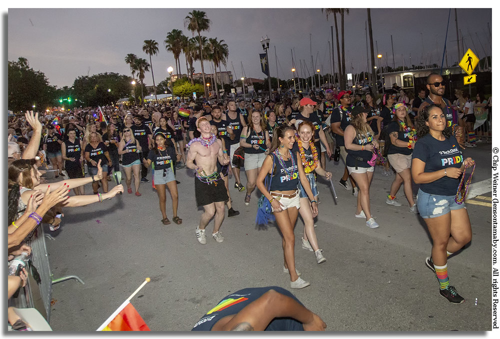 As a major event sponsor, Clearwater based Tech Data had over 700 representatives marching