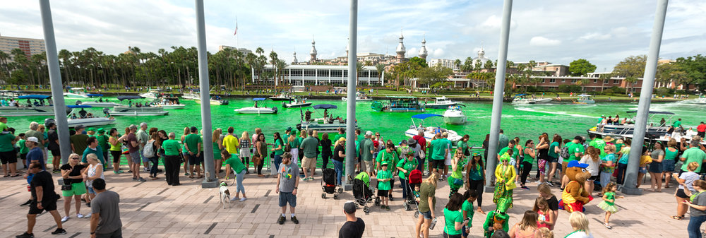Tampa's Curtis Hixon Park and Riverwalk gave the St. Patrick's Day celebrations a front row seat to the greening of the Hillsborough River