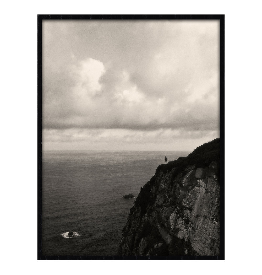 20150510_PORTUGAL_Cabo da Roca Man Cliff-FRAMED_16x20_IMG_8046 BW web ready.jpg