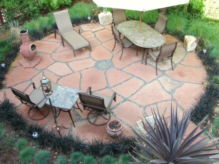 Round Patio With Furniture