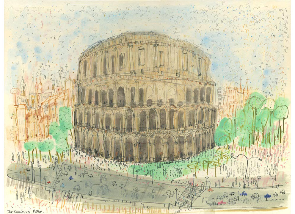 'The Colosseum Rome'  Limited Edition Giclee Print Image size 40 x 30 cm Edition size 195 £145