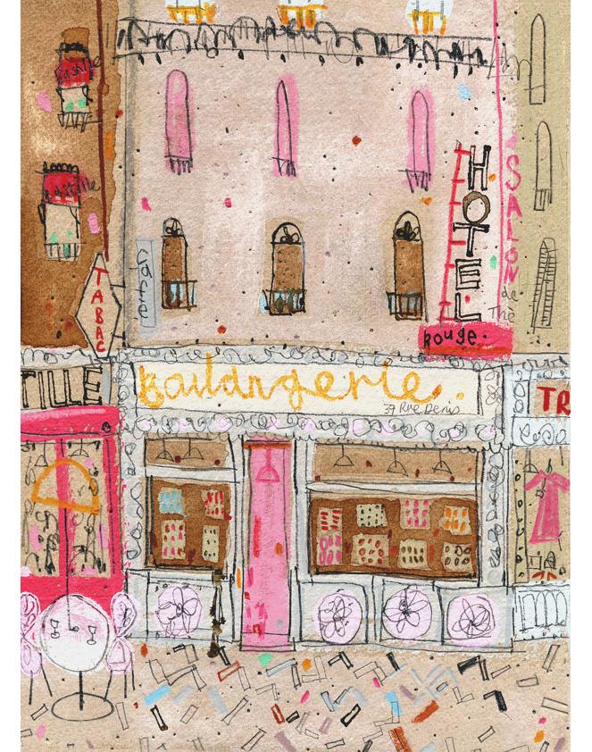 'Boulangerie Paris'  Giclee print 30 x 41 cm Edition size 195 £140