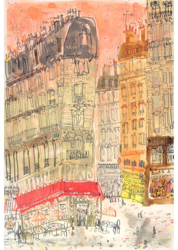'Boulevard St. Germain'  Giclee print 29 x 42 cm Edition size 150 £145