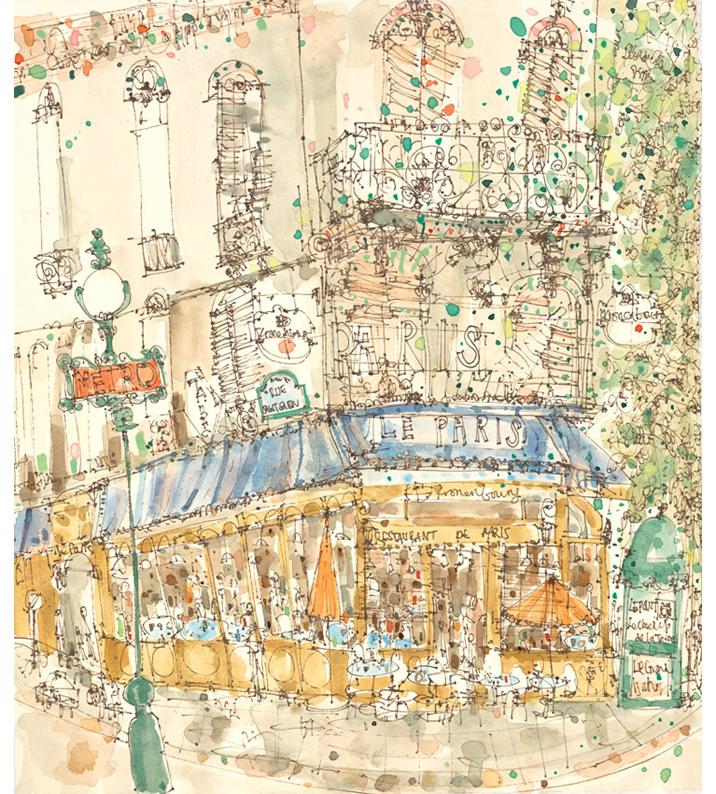 'Restaurant de Paris'  Giclee print  30 x 34 cm Edition size 195  £140