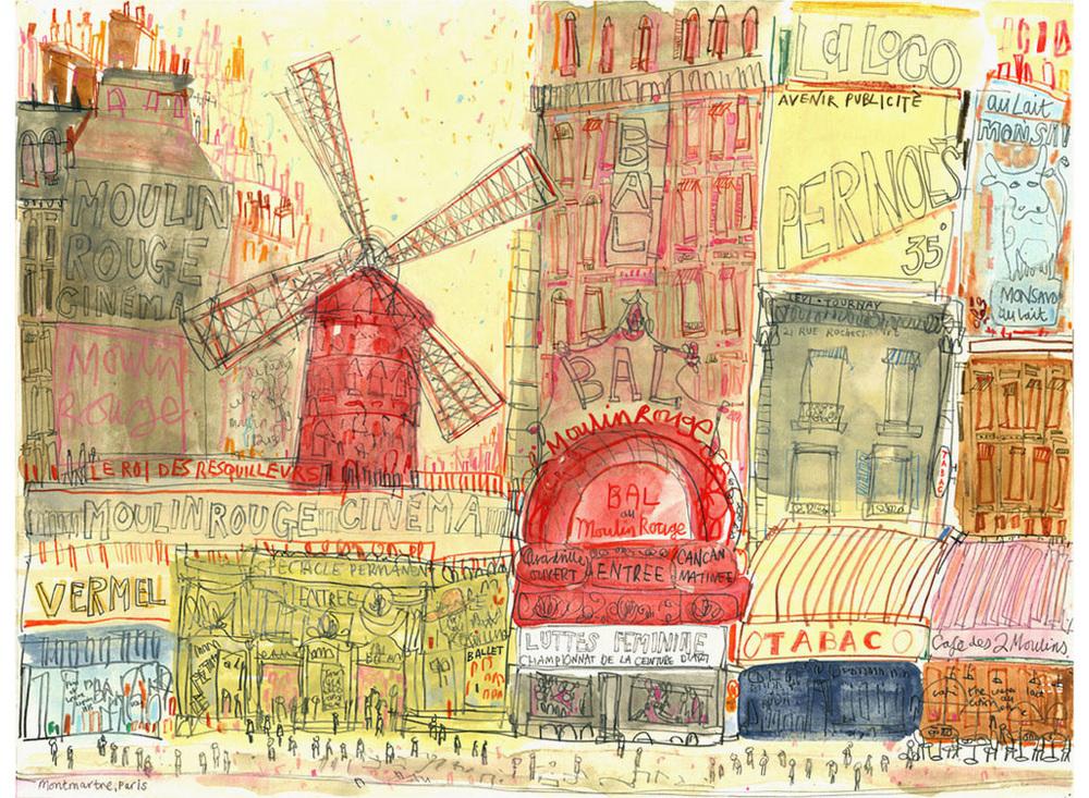 Paris  Giclee print Image size 30 x 40 cm Edition size 195   £70  SALE (Was £140)