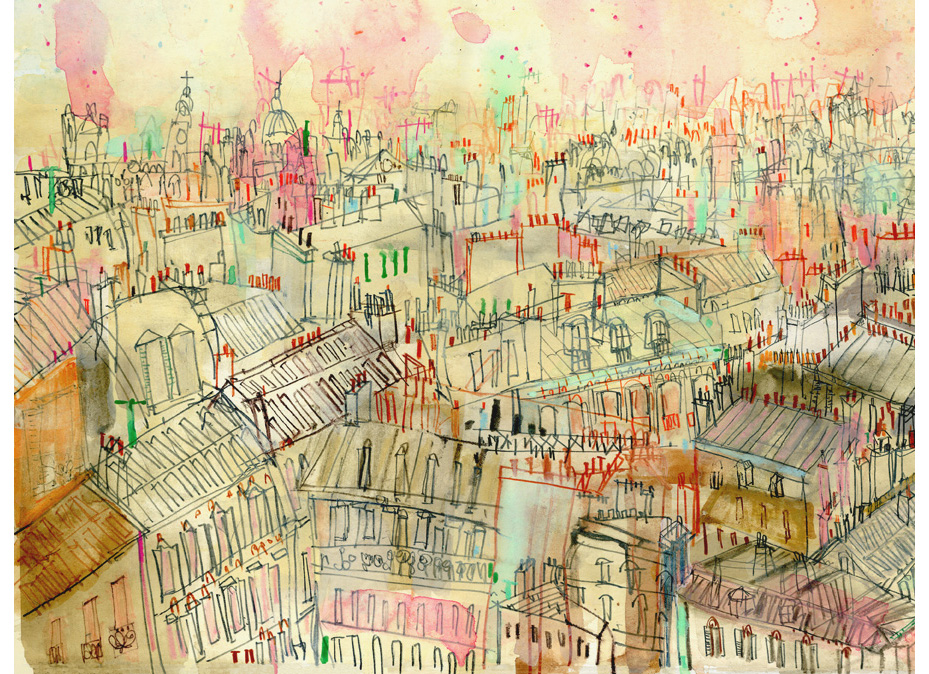 DETAIL FROM      'View over Parisian Rooftops'