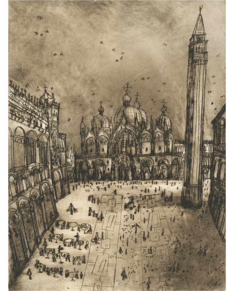'St Mark's Square'  Giclee print   30 x 40 cm Edition size 195     £140